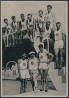 1936 Germany Berlin Olympics Olympia Sammelwerk 13 Bild 132 Gruppe 55 USA FUQUA LYMANN PEACOCK HARDIN CcCLUSKEY VENZKA - Trading Cards