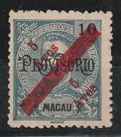 MACAO - N°148 Nsg (1911) Surcharge Diagonale 5a Sur 10a - Ungebraucht