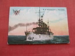 US Armored Cruiser Charlestown --. Ref 3158 - Oorlog