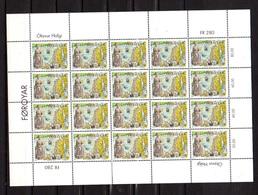 1995     Féroé, Saint-Olav, 281** , 2 Feuilles De 20 + 6, Cote 103,50 € Pour 46 Ex - Estonie