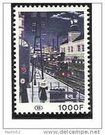 """Belgique 1977: Chemin De Fer 1000 BEF - Paul Delvaux """"Gare à La Nuit"""" Michel-No. E356 Yvert 432 ** MNH (cote 50.00 Euro) - Chemins De Fer"""