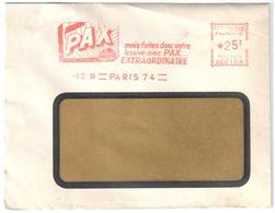 PARIS 74 Lettre EMA CG2153 25 F Ob 9 2 1959 Publicite Lessive PAX - Textile