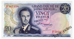 LUXEMBOURG 20 FRANCS 1966 Pick 54 Unc - Luxembourg