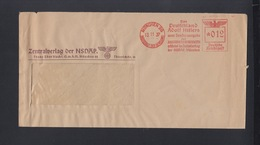 Dt. Reich Brief 1937 Zentralverlag Der NSDAP - Marcofilia - EMA ( Maquina De Huellas A Franquear)