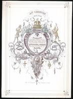 PORSELEINKAART 25 X 18 CM  AU CHINOIS BAZAR MAGASIN BIJJOUTERIE,PARFUMERIE , LEVIONNOIS FRERES RUE COURTE D/L MONNAIE 13 - Gent