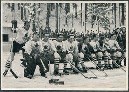 1936 Germany Berlin Olympics Olympia Sammelwerk 13 Bild 30 Gruppe 55 Canada Ice Hockey - Trading Cards