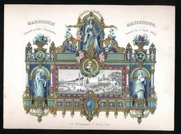 PORSELEINKAART 25 X 18 CM  PAVILLON DU MOTJE , CONCERT ET FETE CHAMPETRE DONNES LE 4 AOUT 1844 - Gent