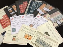 LOT PRESTIGE ITALIE Collection Timbres Classiques Varitétés Certificats Raybaudi €€€ - Italy