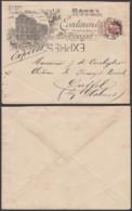 """BELGIQUE COB 77 SUR LETTRE DECO """"HOTEL CONTINENTAL """" EN EXPRES DE BRUXELLES 01/05/1908 VERS DUFFEL  (DD) DC-2071 - 1905 Grosse Barbe"""