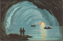 F Coppola - Grotta Azzurra, Capri, C.1920 - Scrocchi Cartolina - Italien