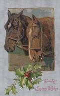 2 Horses Christmas Greetings , 00-10s - Horses