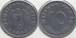 Germania Terzo Reich 10 Reichspfennig 1942F Km#101 - Used - [ 4] 1933-1945 : Troisième Reich