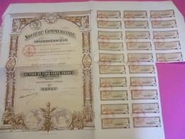 Action De 500 Francs Au Porteur / Société Commerciale Interocéanique/Chaix/ PARIS/1916      ACT161 - Navigation