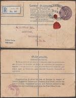 Irlande 1932. Enveloppe, Entier Recommandé. 153 X 96 Mm, Timbre à 5 P - Entiers Postaux