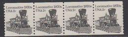 USA 1982 Locomotive 1870 (coil) 1v Strip Of 4 ** Mnh (41800E) - Verenigde Staten