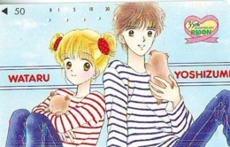 Télécarte Japon * MANGA * Comics * RIBON  (16.802)  JAPAN PHONECARD * TELEFONKARTE  CINEMA * FILM - BD