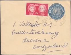 Irlande 1962. Enveloppe, Entier Pour La Suisse. Papier Strié Sans Filigrane - Entiers Postaux