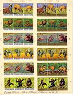 1969 -72 Guinée 1969-77, Animaux, Entre 382 Et 621 (pas 616-618) Ø, Cote 20 €, - Guinée (1958-...)