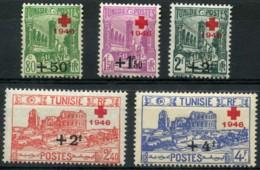 Tunisie (1946) N 305 à 309 * (charniere) - Tunisie (1888-1955)