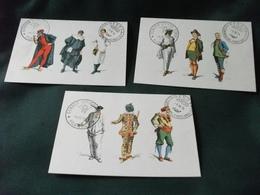 MAXIMUM CARD MASCHERE ITALIANE PULCINELLA ARLECCHINO MEO PATACCA PANTALONE D. BALANZONI MENEGHINO BRIGHELLA GIANDUIA - Costumi