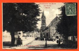 """CPA 52 Bourbonne Les Bains """" L'église """" - Bourbonne Les Bains"""