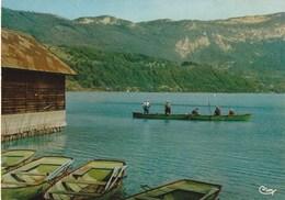 Cp Des Années 60-70 De La Savoie - Lac D'Aiguebelette - Saint Alban De Montbel - Le Coin Des Pêcheurs Près De La Plage - Francia