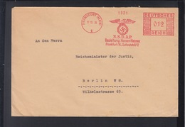 Dt. Reich Brief 1936 NSDAP Gauleitung Hessen-Nassau - Marcofilia - EMA ( Maquina De Huellas A Franquear)