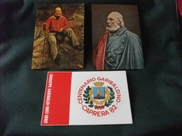 MAXIMUM CARD GIUSEPPE GARIBALDI RITRATTO E CARTOLINA CENTENARIO AUTOADESIVA - Uomini Politici E Militari