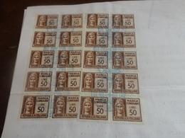 DOCUMENTO CON 20 MARCHE CONSOLARI DA LIRE 50-1981 - Fiscali