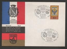 RFA 1976 N°YT 752 Mi 903 Tag Der Briefmarke Journée Du Timbre / Briefmarkenausstellung Der Partnerstädte Bonn Mirecourt - Lettres & Documents