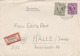 Brief Aus Düsseldorf 1946 - Bizone