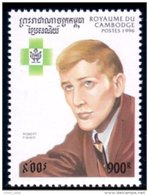 534 Cambodge Robert Bobby Fischer Chessmaster MNH ** Neuf SC (KAM-153b) - Echecs