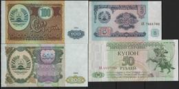 B 123 - TADJIKISTAN Lot De 4 Billets état Neuf 1er Choix - Tadjikistan