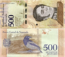 VENEZUELA       500 Bolívares       P-New       18.5.2018       UNC - Venezuela