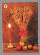 Postal Stationery Red Cross Finland - Sheaf Apples Candle Gerbe Garbe - Used 2008 - Ganzsachen