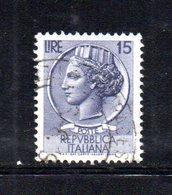 XP2550 - REPUBBLICA SIRACUSANA  , Il 15 Lire Usato Con Filigrana Stelle I Per Macchinette (Carraro 325) - 6. 1946-.. Repubblica