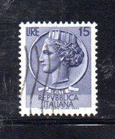 XP2560 - REPUBBLICA SIRACUSANA  , Il 15 Lire Usato Con Filigrana Stelle II 65° Dx (Carraro 298) - Varietà E Curiosità