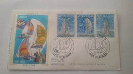 MONACO ..1°  Jour.d'émission..FDC ..1985.Timbre...NEW YORK - Joint Issues