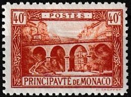 Timbre-poste Gommé Neuf** - Viaduc De Sainte-Dévote - N° 57 (Yvert) - Principauté De Monaco 1922-23 - Monaco