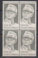 USA 1981 Everett Dirksen 1v Bl Of 4 ** Mnh (41801D) - Verenigde Staten