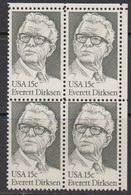USA 1981 Everett Dirksen 1v Bl Of 4 (corner) ** Mnh (41801E) - Verenigde Staten