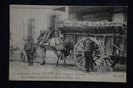 PARIS PETITS METIERS  Charretier Pierre PASTRE Chargeur Etienne MOURET Photo HF 1910 - Petits Métiers à Paris