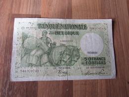 50 Frank Of 10 Belga, Nationale Bank Van Belgïë - [ 3] Deutsche Besatzung In Belgien
