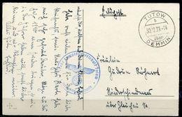 """CPSM Signi. Color AK German Empires Tutow 1939 Feldpost M.militärischen Vermerk""""Große Kampffliegerschule TUTOW""""1 AK Used - Deutschland"""