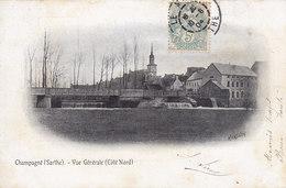 CHAMPAGNE (Sarthe) Vue Générale (côté Nord) Circulée Timbrée 1904 - Autres Communes