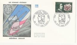 FDC  France Env. 1er Jour - Les Hommes Célèbres Général Desaix - 63 Ayat S/ Sioule 23.03.68 - Timbre 1551 - 1960-1969