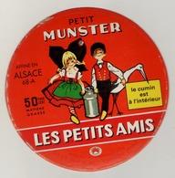 étiquette De Fromage -  PETIT MUNSTER LES PETITS AMIS  - Affiné En Alsace - Ostheim Ribeauvillé - Fromage