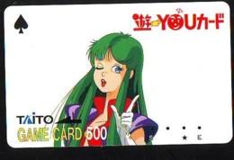 Carte Prépayée Japon * MANGA * Comics * TAITO  (16.821)  Japan Prepaid Card * TOSHO Karte * CINEMA * FILM - BD