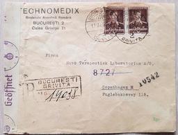 Romania Denmark 1943 Censored - Romania