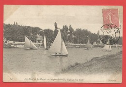 """C.P.A. (94  ) """" Nogent-Joinville """" Les Rives De La Marne,Régates à Voile    -Voir 2 Photos - Nogent Sur Marne"""